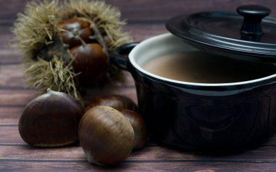 Kastanje-koffie soep
